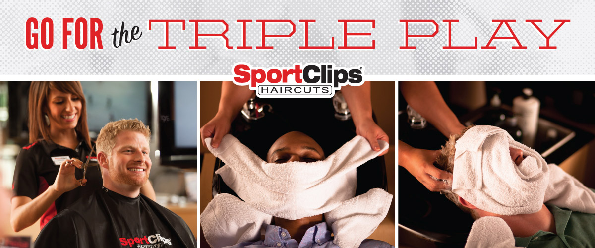 The Sport Clips Haircuts of West University Triple Play